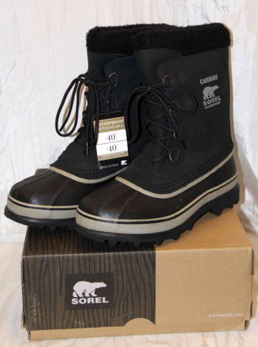 Sorel Men's Caribou Black tusk Winter Boot Waterproof sz 7 rated: -40° #1000-014