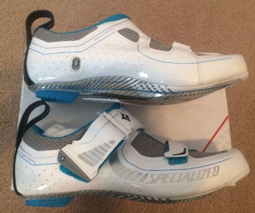 Specialized Women's Trivent Expert Triathlon Cycling Shoes 38EU 7US White S019