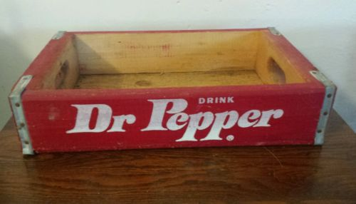 1978 Dr Pepper Soda Crate Vintage Antique Advertising DRP24 Wood Crate
