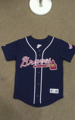 YOUTH MLB ATLANTA BRAVES JEFF FRANCOEUR THROWBACK JERSEY SIZE S SMALL JF