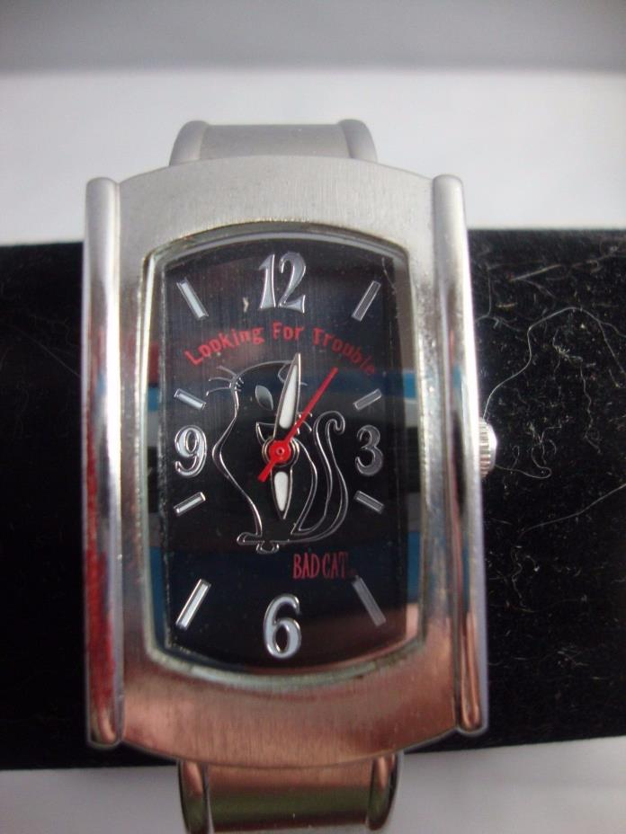 2005 MIGHTY FINE BAD CAT LADIES WRIST WATCH
