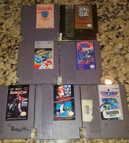 original nintendo games lot nes, zelda, mega man and more