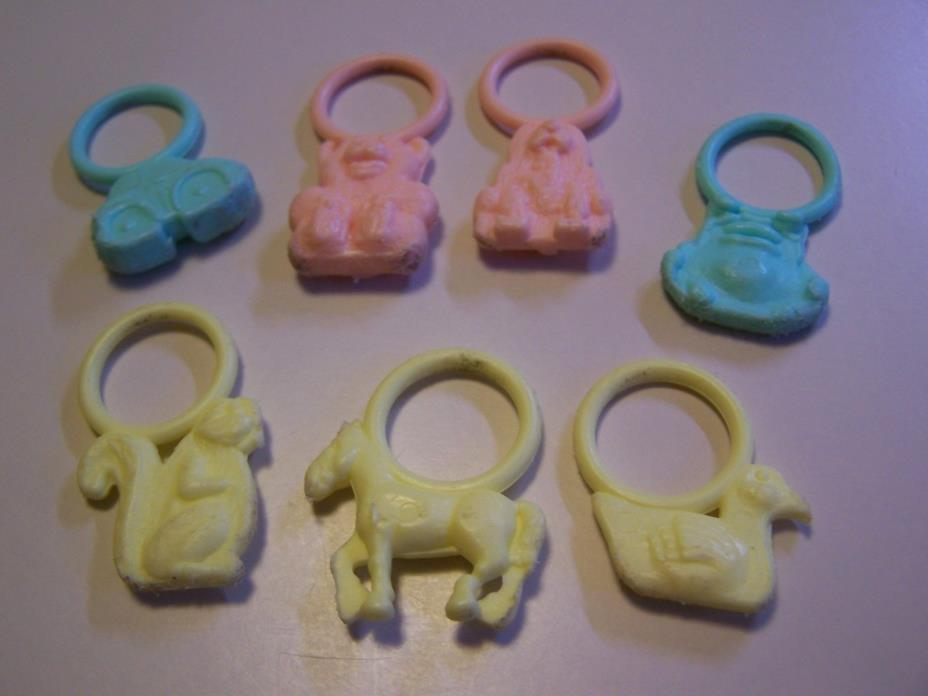 Lot of 7 Vintage Baby Toys - Teether or Charms