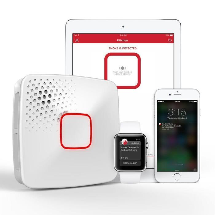 Onelink Wi-Fi Smoke + Carbon Monoxide Alarm, Battery, Apple HomeKit (DC10-500B)