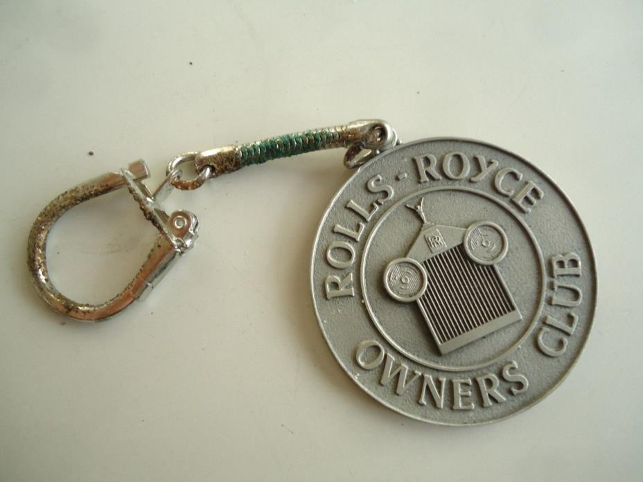 Vintage RROC Rolls Royce Owners Club Car Key Chain