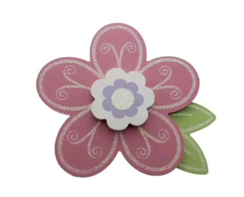 Babies r us Wooden pink Flower  Wall Decor NEw