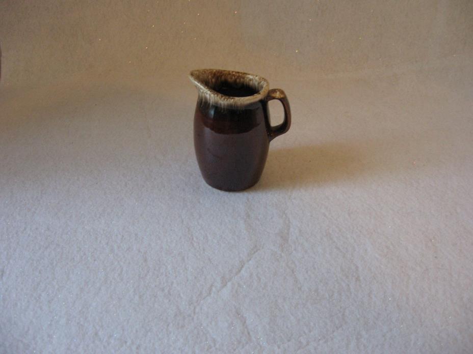 Hull Pottery Brown Drip Creamer