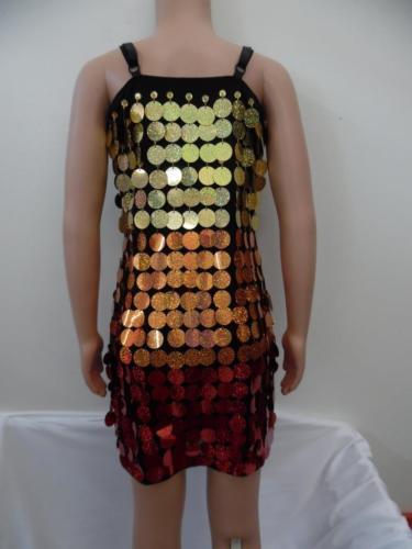 Dance Costume Medium Child Sequin Spangle Dress Solo Competition Pageant Glitz