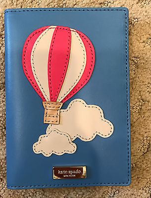 NEW Kate Spad Imogene Get Carried Away Hot Air Balloon Passport Cover Holder NWT