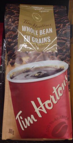 Tim Hortons Original Whole Bean Coffee 300g 100% Arabica Coffee Canadian.