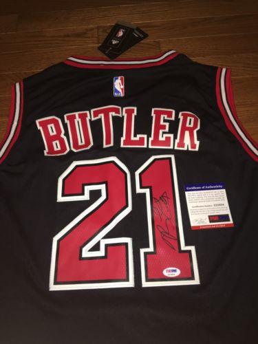 Jimmy Butler Signed Chiacgo Bulls Jersey #21 PSA/DNA COA Jimmy Buckets NBA RARE
