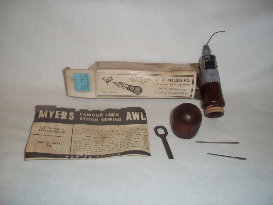 C. A. Meyers Co 1936 Lock Stitch Sewing Awl