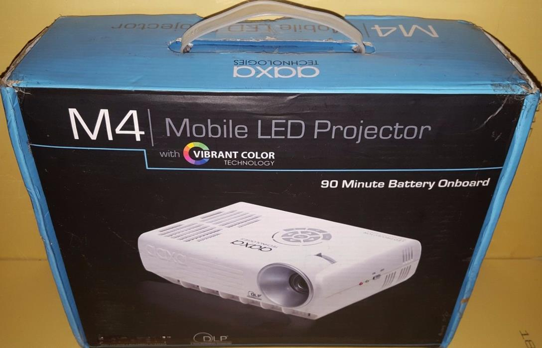 AAXA M4 Mobile LED Projector 1280x800 HD ATSC TV HDMI 800 Lumens with Battery