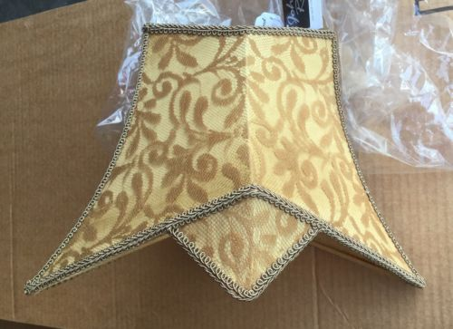 NWT JOHN RICHARD  DESIGNER RETRO GOLD ASAIN FLAIR CONTEMPORARY LAMPSHADE