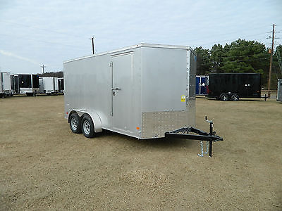 14' 14 Foot Cargo Utility Enclosed Trailer Trike ATV Bike OK Oklahoma Harley TX