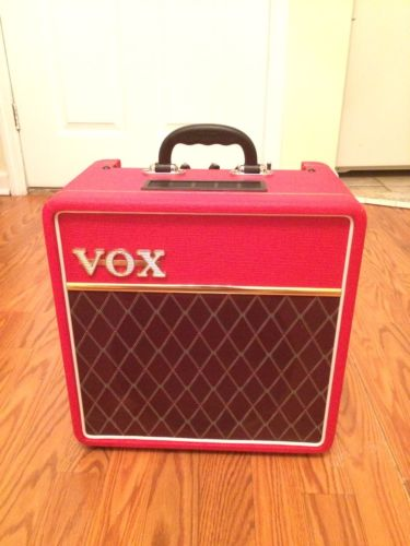 Vox AC4C1 Guitar Combo Amp - 4 watt all tube amplifier Red (Limited Edition)