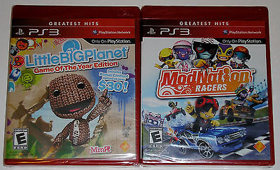 PS3 Game Lot - LittleBigPlanet Game of the Year (New) ModNation Racers (New)