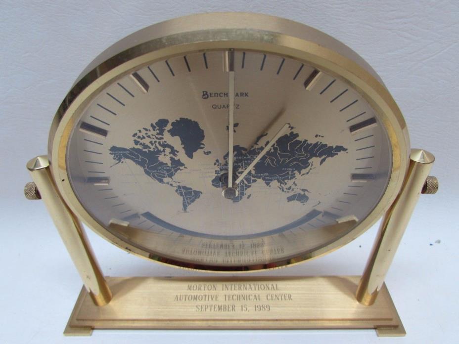 Vintage Service Award World Clock Morton International Automotive Tech Center