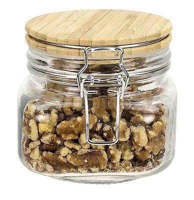 Home Basics Glass Jar with Bamboo Top
