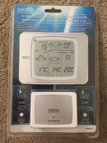 New Springfield Wireless Weather Forecaster, 92601C NISB