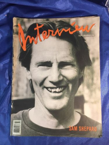 Andy Warhol's Interview Magazine - September 1988 Sam Shepard cover