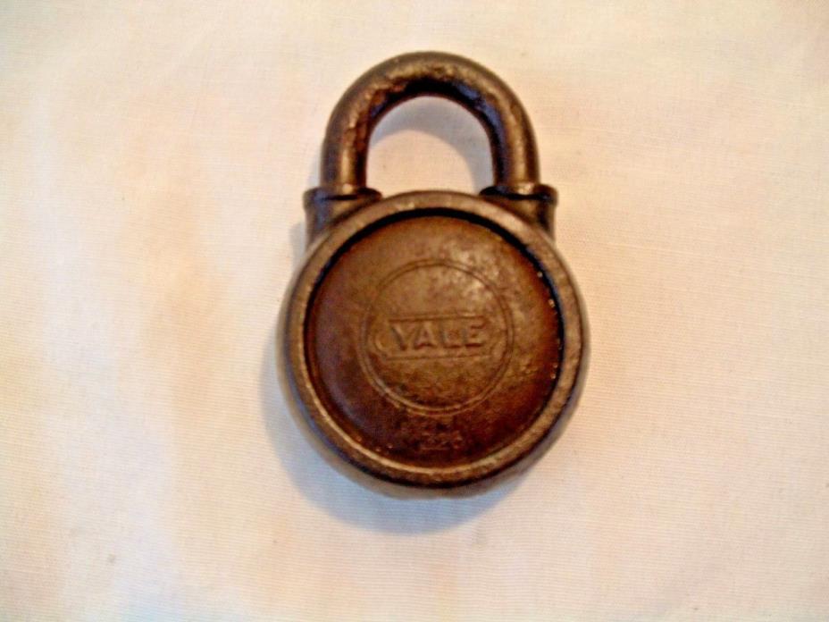 Vintage Antique Rare Yale Padlock #326 Yale & Towne MFG. Co. Lock No Key Old USA