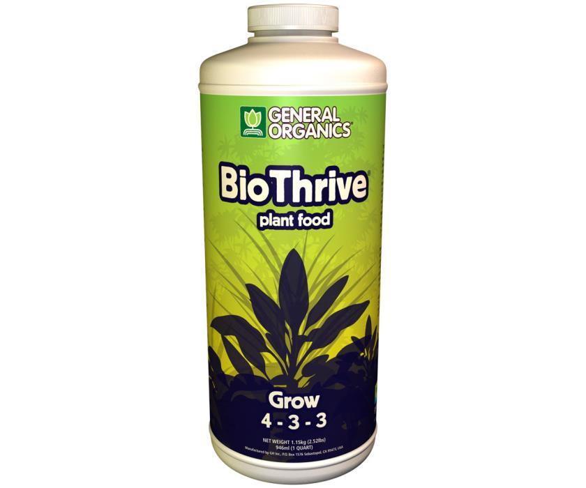 General Organics Bio Thrive Grow 32 oz ounce Quart qt - GH Organics Biothrive