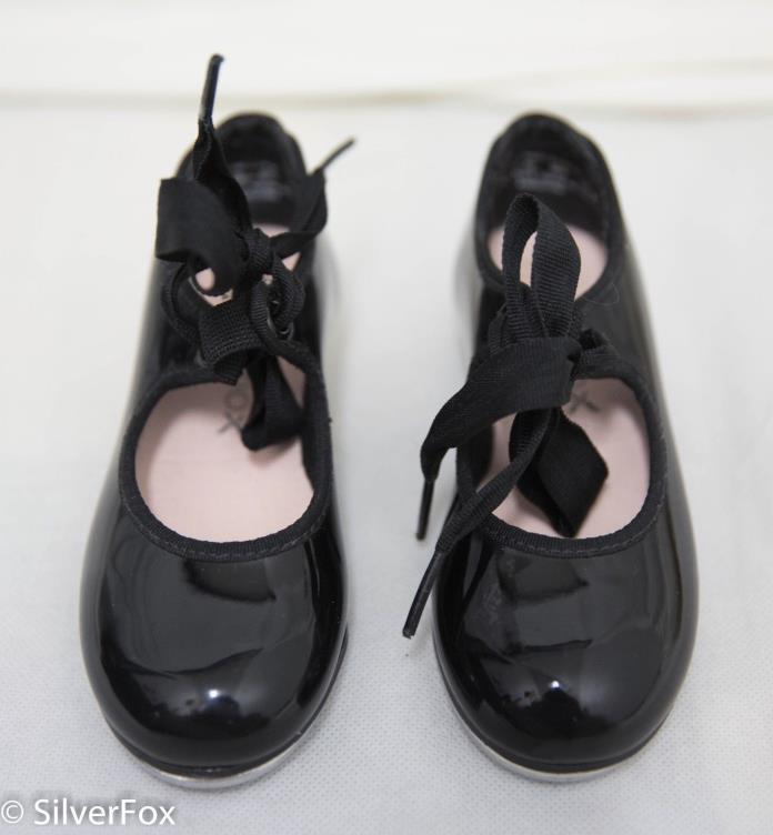 Capezio Toddler Girls 3800T Black Tap Shoes Sz 8.5 M