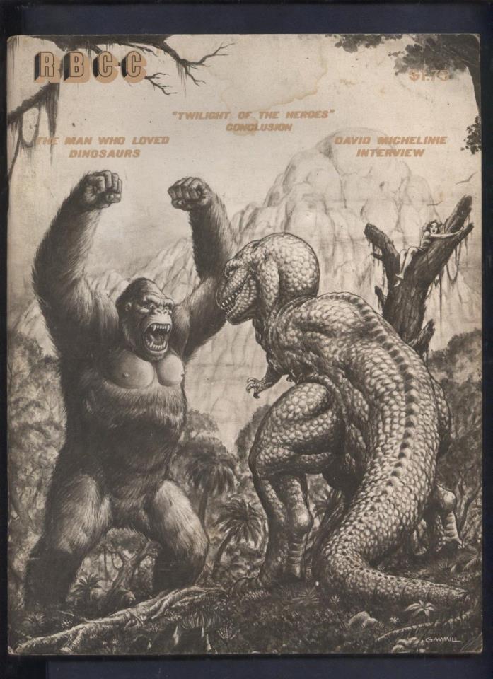 Rocket Blast Comic Collector  Fanzine magazine #145 King Kong, Ziff davis Covers