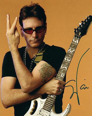 Steve Vai Ibanez Guitar Peace Sign Tattoo Autographed Signed Photo AFTAL UACC RD