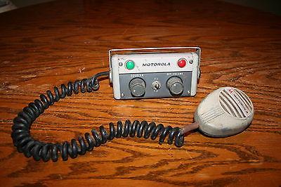 Motorola TU124ACZ-1 1956 Police Fire Radio Shure Mic CB12T Rare