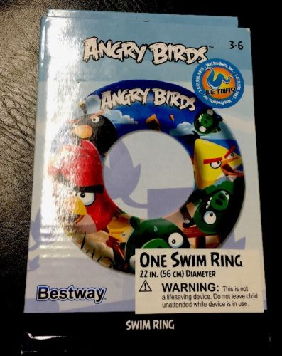 New ANGRY BIRDS SWIM RING Float Pool Play  Beach River KIDS TOY In Box