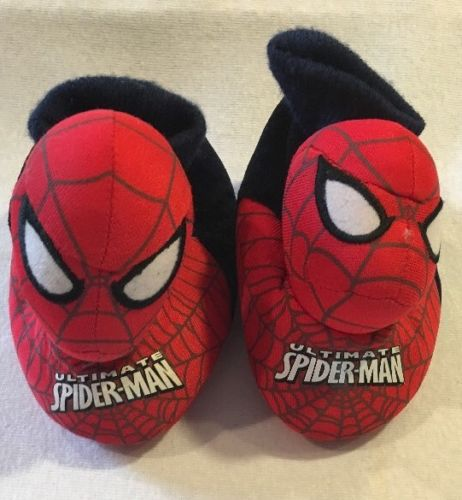 Marvel Spider-Man Toddler Red Slippers Size Small 5-6