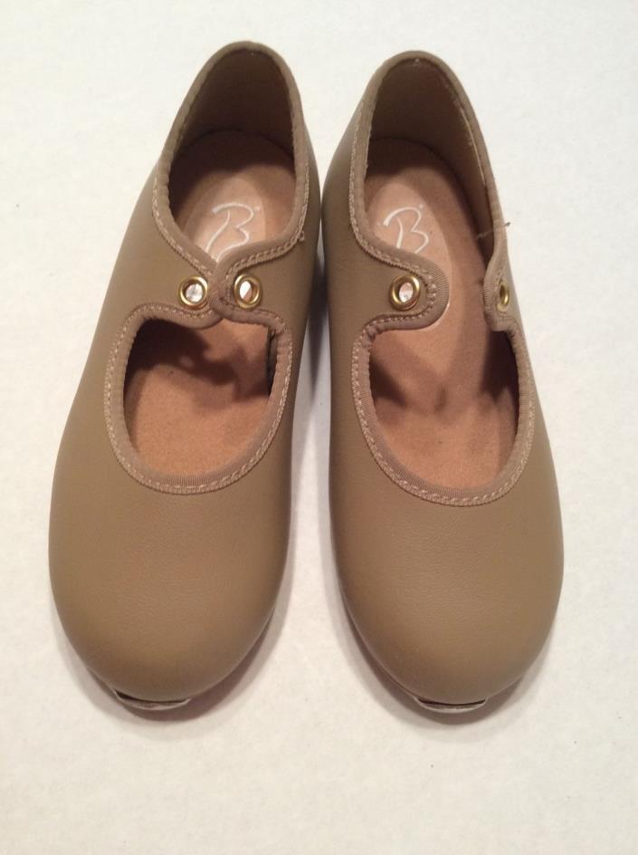 Girls Tan Tap Dance Shoes Bloch Size 8.5 Toddler