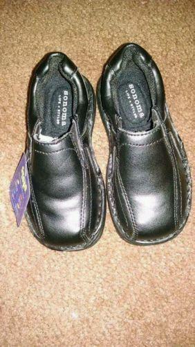 New Toddler boys Sonoma (Kohl's)black slipon loafers. Sz 8 med Toddler