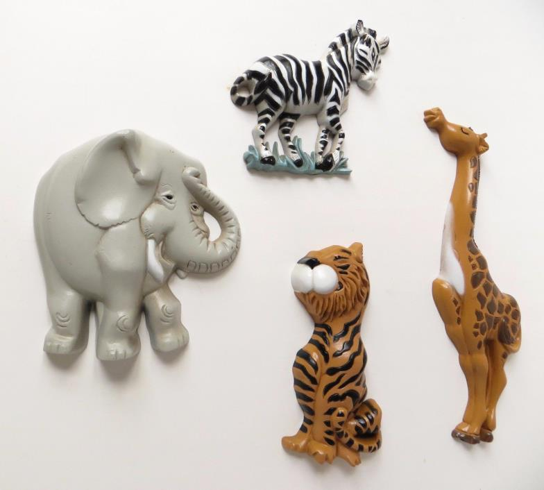 Burwood Jungle Safari Zoo Animal Wall Plaques Nursery Decorations