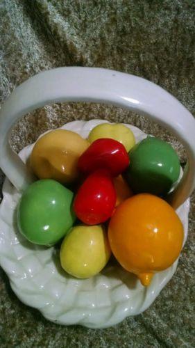 Vintage Ceramic Fruit and Basket.