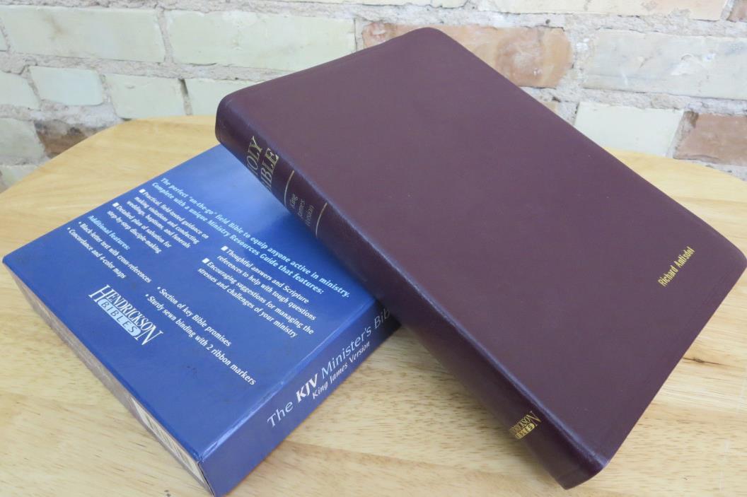 Hendrickson, KJV Minister's Bible, Burgundy Genuine Leather