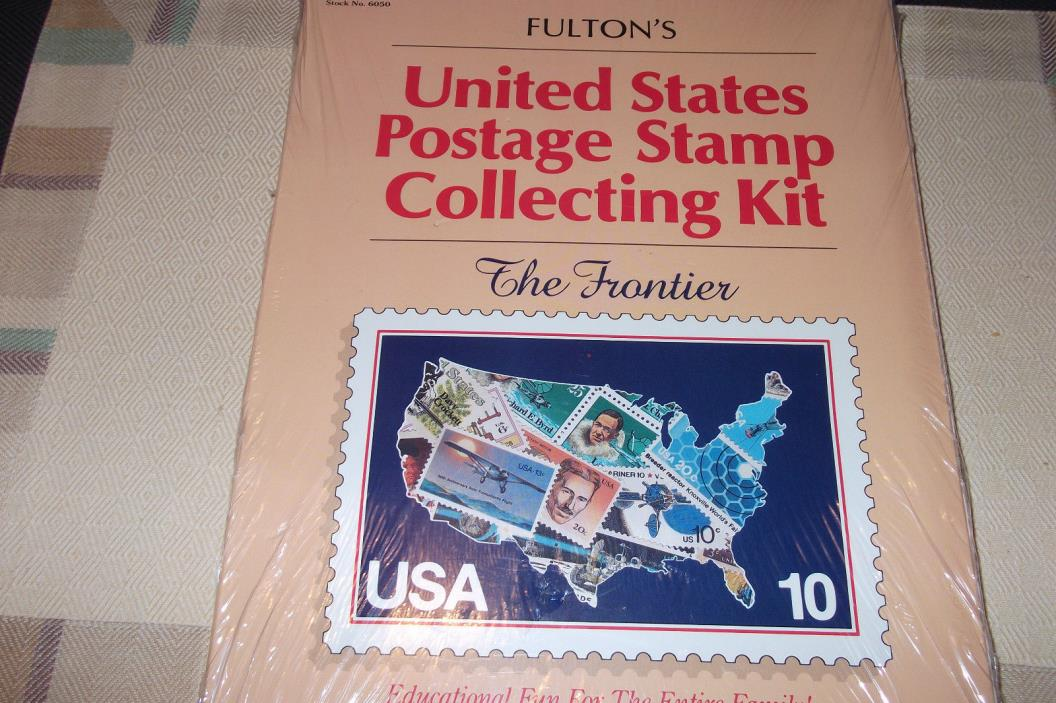 USA Stamp Collecting Kit -1991 New Album+50 Stamps