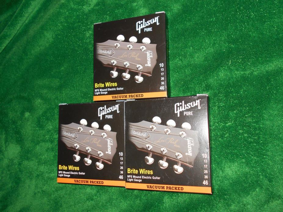 Gibson Brite Wires lot of 3 sets