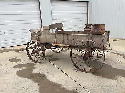#36 HORSE DRAWN WAGON HARVEST DISPLAY WAGON FARM WAGON ANTIQUE WAGON