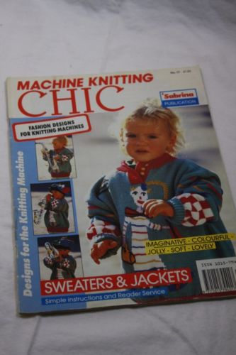 Knitting Machine Pattern CHIC UK Cute Kids Sweaters Vintage Magazine