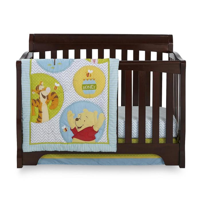 classic pooh crib bedding set for sale classifieds