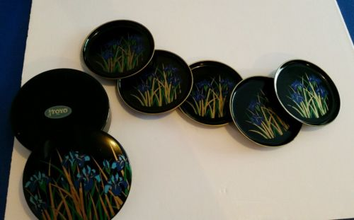 Table coasters Toyo set of 6 with beautiful round box with lid