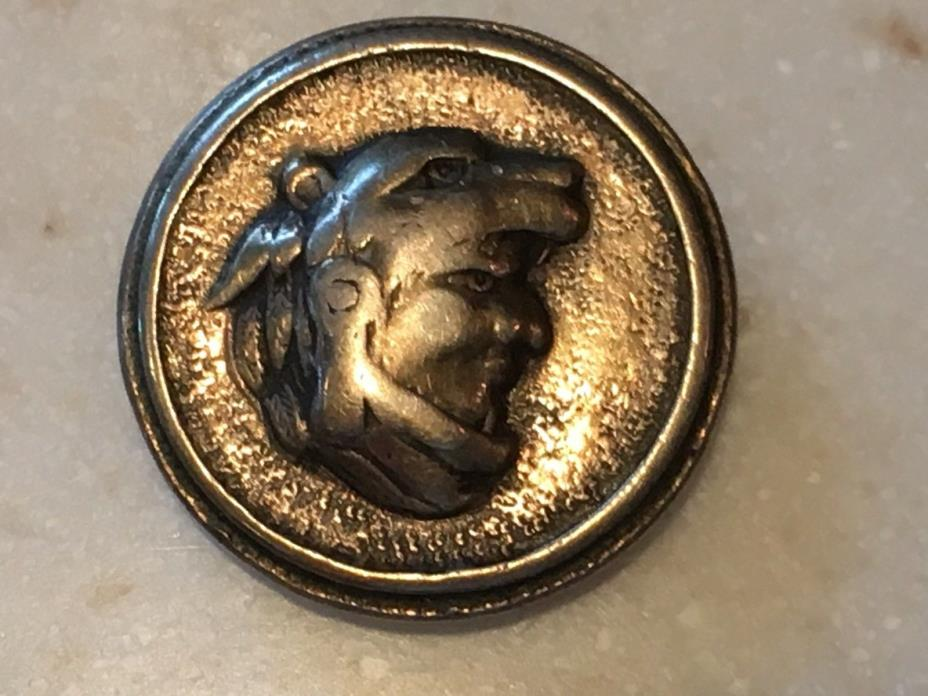 Signed Plafina Sterling Man Wearing Wolf's Head Made in Mexico Bolo Slider
