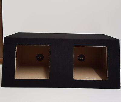 DUAL 10 Universal Angled Sealed Kicker L7 L3  Subwoofer Enclosure Box 2x10