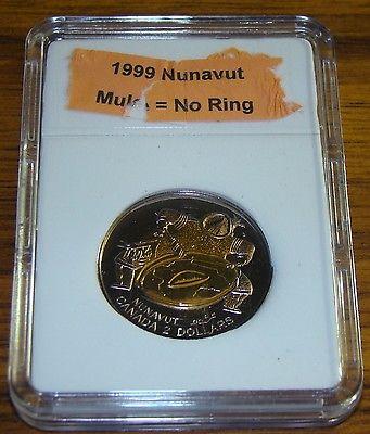 1999 Canada Nunavut Mule Uncirculated $2