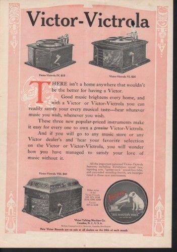 1911 VICTOR VICTROLA PHONOGRAPH SING DANCE OPERA RECORD12337