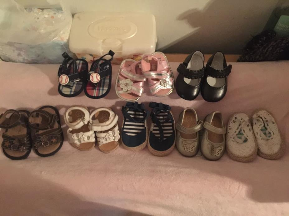 Lot of Baby Girl Size 2 Summer/Spring shoes
