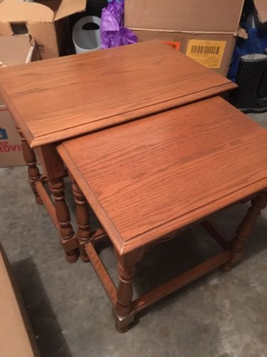 Tell City Chair Company Oak Nesting Tables